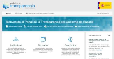 La página web de la ley de Transparencia