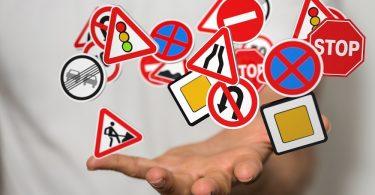 señales de tráfico que infringir